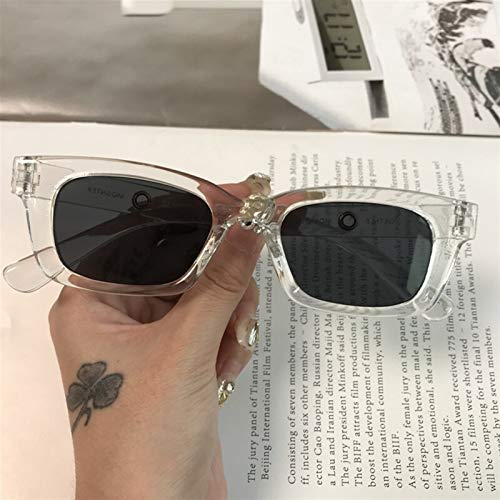 1 unids Nuevas Mujeres rectángulo Vintage Gafas de Sol de la Marca diseñador de Marca de Puntos Retro Gafas de Sol Dama Gafas Gafas Gafas de Ojo de Ojo (Color Name : F)