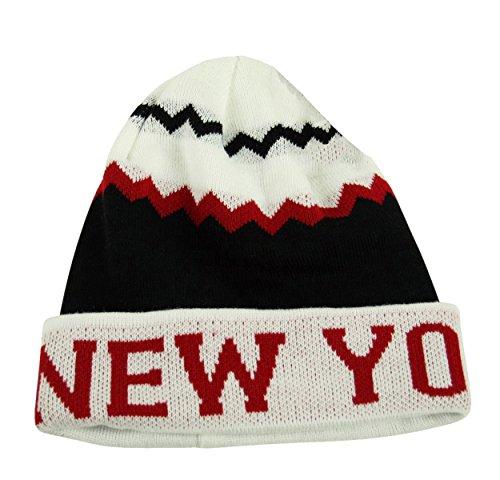 Itzu - Bonnet - Homme Noir Black White Red