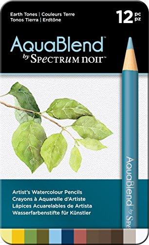 Spectrum Noir Aquablend Pencils-12 Pc-Earth Tones, Set