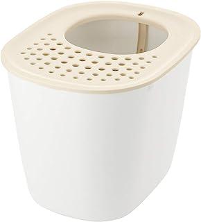 リッチェル 猫用トイレ本体 ラプレ 砂取りネコトイレ ホワイト 1個 (x 1)