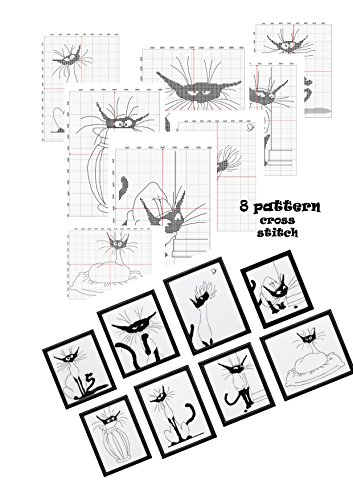 Hand embroidery design books cross stitch pattern Cat...