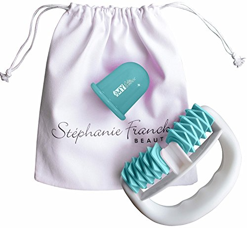 Stephanie Franck Beauty Kit1 AntiCellulite - body roller, ventouse et sac. Turquoise