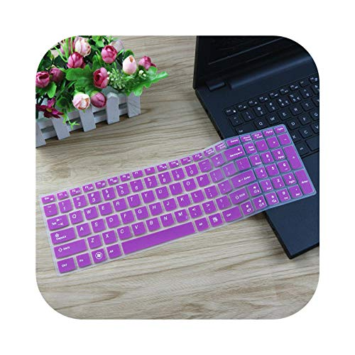 Keyboard cover Protective Silicone Keyboard Cover for Lenovo 15.6 Inch Erazer Z51 Z51-70 G50-45 Z50-70 Y50-70 / G50-45 / Z50-70 / Z50-70 / Z50 50-70. - Purple