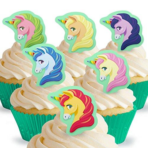 12 x Cakeshop decoración para pasteles comestibles PRECORTADAS de Unicornio