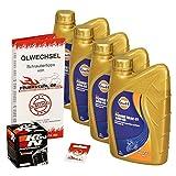 Gulf 10W-40 Öl + K&N Ölfilter für Honda XL 1000 V Varadero, 99-02, SD01 SD02 - Ölwechselset inkl. Motoröl, Filter, Dichtring