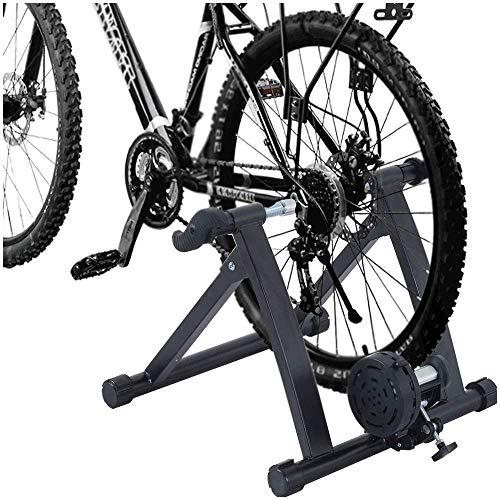WYJW Soporte para Entrenador de Bicicleta, Entrenador Turbo para Bicicleta, Soporte estacionario para Bicicleta con Control magnético/Cable de 7 velocidades Que Convierte el Ciclo en