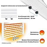 SONNI Handtuchheizkörper Handtuchtrockner Heizkörper Bad Mittelanschluss Handtuchwärmer Badheizkörper Weiß Gerade 40 * 120cm - 6
