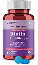 Carbamide Forte Biotin 10000mcg with Keratin & Bamboo Extract Tablets for Hair Growth for Women & Men – 90 Veg Tablets