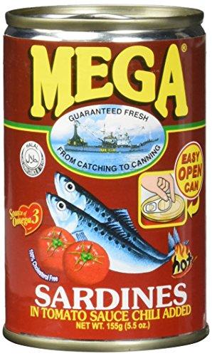 Mega Sardinen Tomaten Sauce & Chili/rot, 24er Pack (24 x 155 g)