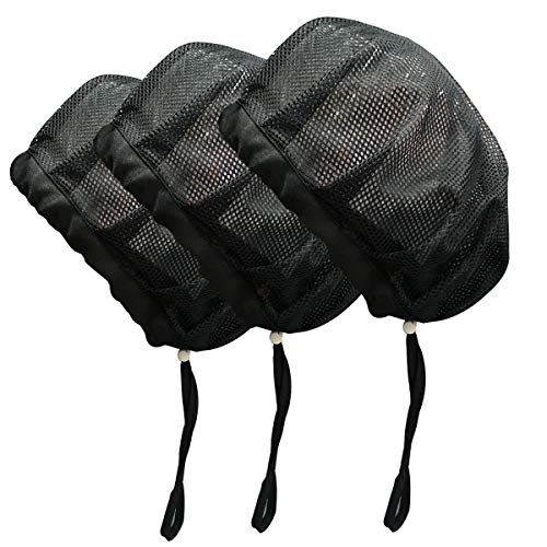 3 Pack Elastic/Drawstring Hair Net Food Service Reusable Chef Net Hats for Cooking Restaurant Cooking Bonnet for Women