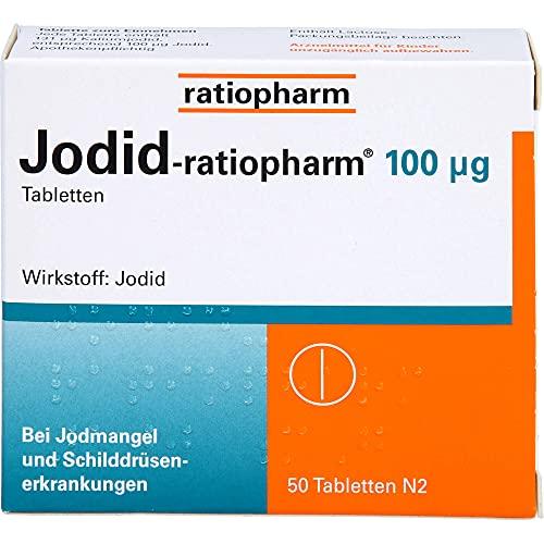 Jodid-ratiopharm 100 µg Tabletten bei Jodmangel, 50 St. Tabletten