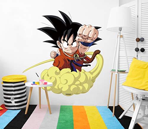 Vinilo de Pared Tamaño Real Dragon Ball Super Goku Niño Nube Producto Oficial   103x110...