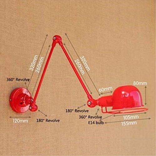 ZhZhCo Replica designer Industrial Design mechanischer Arm Frankreich Jielde Wandleuchte Erinnerungen versenkbare Doppel Vintage Folding Stab leuchten, B