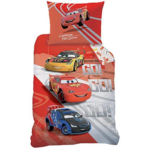 Disney Cars 044458 Go Go Go Parure de lit en Coton renforcé, 20 x 140 x 200 cm