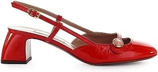 L'Autre Chose Women's Shoes Red Patent Slingback Pump SS 2019