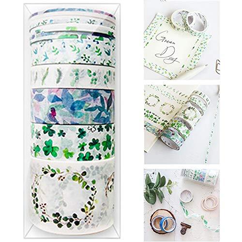 Conjuntos Regalo Washi 9 Rollos Washi Tape Sets Pastel Washi Tape Love Set Cintas Papel Japonesas Washi Tape Bullet Journal Cintas De Papel Pegajoso para Bricolaje Decorativas Álbum De Recortes