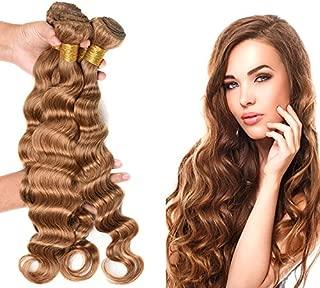 Wome Hair Bazilian Virgin Deep Wave Human Hair Weaves 3 Bundles Honey Blonde Loose Deep Hair Bundles(20