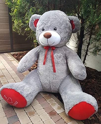 XXL Teddybär Bär 1,9m grau Kuschelbär 190 cm Teddy Plüschtier Kuscheltier
