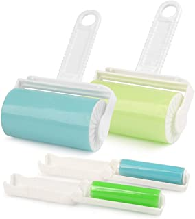comprar comparacion FOCCTS 4PCS Rodillo Quitapelusas Removedor Pegajoso de Pelusa Lavable y Reutilizable Sticky Picker Cleaner con Tapa para P...