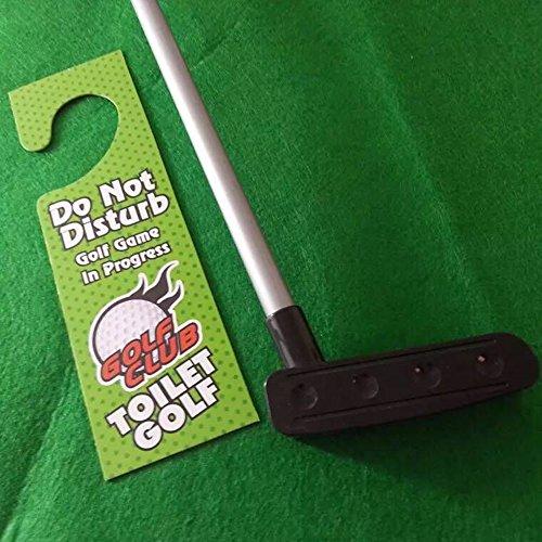 Amasawa Toiletten Golf Set, 6-teilig, Golfschläger, Circa 62 cm,Töpfchen Putter Badezimmer Spiel Neuheit Putting Geschenk Spielzeug Trainer Set. - 4