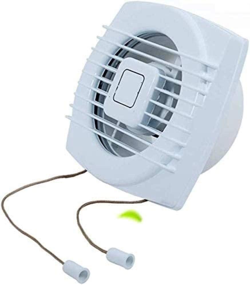 LITING Ventilador de ventilación doméstico 8 Pulgadas De Escape De Ventilación del Ventilador De Escape De Baño Cocina Extractor De Aceite Ventilador Fuerte Humo Silencio Vidrios
