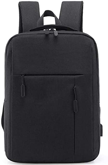 Travel Business Slim Durable Laptop Backpack with USB Charging Port and Headphone Plug, College School Computer Bag for Women & Men Fits Most 15 Inch Notebook (Black)