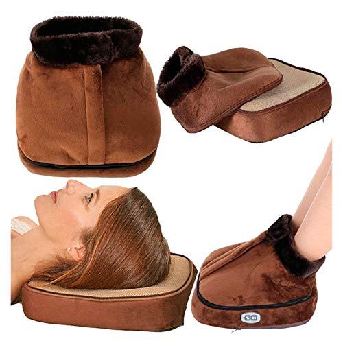 YCSC US EU Electric Heated Foot Care Warmer Heater 110 220V Unisex Feet Warmer Massager Big Slipper Foot Heat Warm Massage Shoes