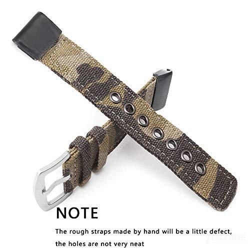 YOOSIDE Fenix 5X Quick Fit Watch Strap, 26mm Canvas Camouflage Stainless Steel Quick Release Replacement Watch Band Strap for Garmin Fenix 5X/5X Plus,D2 Delta PX,Fenix 3/3HR,Quatix 3,Tactix Bravo