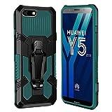 xinyunew Hülle Kompatibel mit Huawei Y5 2018/Honor 7S, Stoßfest Outdoor Handy Hülle Militärstandard Schutzhülle Robust Stürzen Heavy Duty Gürtelclip Handyhülle für Huawei Y5 2018/Honor 7S- Grün
