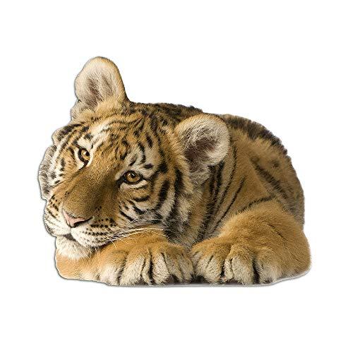 GRAZDesign Muursticker Deco Sticker schattige tijger liggend, Wandtattoo Afrika jungle Baby tijger 48x40cm