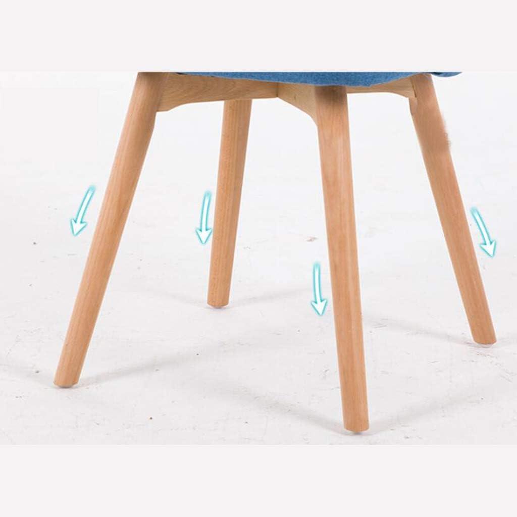 HURONG168 Chaises de cuisine Simple chaise en bois massif nordique, chaise de bureau tabouret maison chaise de café chaise de bureau siège lounge (Couleur : 4) 7