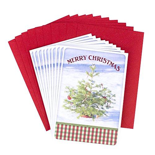 Hallmark Marjolein Bastin Weihnachtskarten, Weihnachtsblumen Weihnachtsbaum