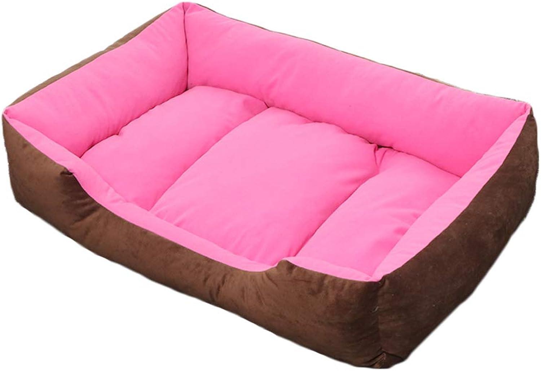Pet nest PP cotton mattress suitable for dogs cat small animals pet nest (color   PINK, Size   L)