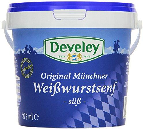 DEVELEY Original Münchner Weisswurst Senf, 3er Pack (3 x 875 ml)