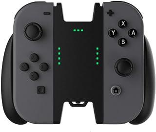 JoyCon充電グリップ Chayoo ニンテンドースイッチジョイコン充電スタンド ゲームしながら充電可能 完璧な代用品 スイッチハンドル充電 コンフォートグリップ サポートホルダー (ブラック)