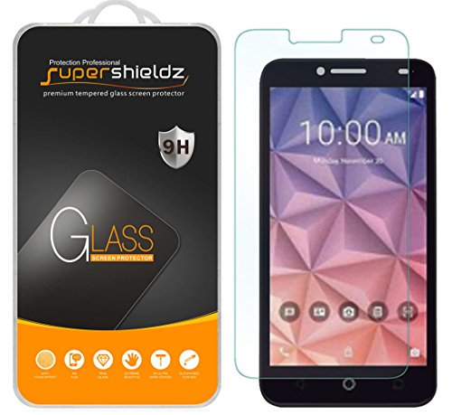 Supershieldz (2 Pack) for Alcatel Onetouch Fierce XL Tempered Glass Screen Protector, Anti Scratch, Bubble Free