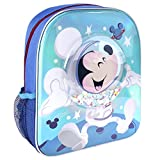 CERDÁ LIFE'S LITTLE MOMENTS, Mochila Infantil con Burbuja y Confetti de Mickey-Licencia Oficial Disney para Niños, Azul, Edad recomendada-2-6 años