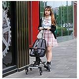 JKNMRL Carritos Plegables, carritos para niños con Funda de Tela Tejida extraíble y Lavable y cinturón a presión de 3 Puntos