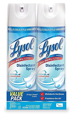 Lysol FOaGIP Disinfectant Spray, Crisp Linen, 38 Ounce, 2 Units