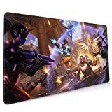 JUMERK Over-Wa-Tch Mouse Pad 15.8x35.5in Multipurpose Comfortable Waterproof Mousepad for Gamer/Office/ Home