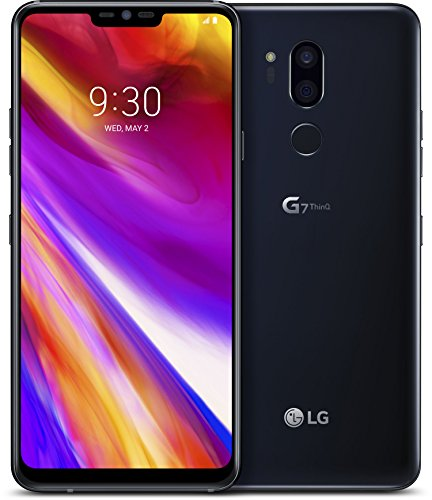 LG G7 smartphone con Display FullVision 6.1  , batteria 3000mAh, Audio Boombox e Quad-DAC, doppia fotocamera 16MP, Octa-Core 2,8GHz, 64GB 4GB RAM, Android 8, Aurora Black [Italia]