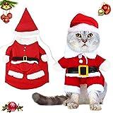 katzenbekleidung,Weihnachten Katzen Kleidung,Katzen Weihnachten kostüm,katzenbekleidung weihnachten, Haustier-Kleidung,Hundekatze-Kleidung Weihnachts,Christmas Costumes,Katzen Kleidung (rot-XL)