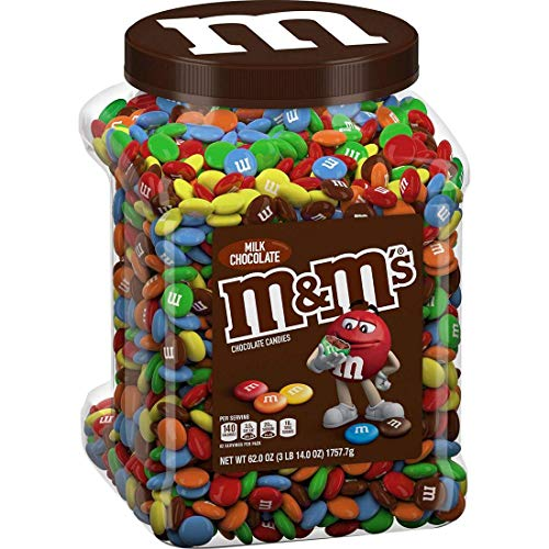 M&M'S Milk Candies Jar, Limited Edition, Chocolate, 62 Ounce