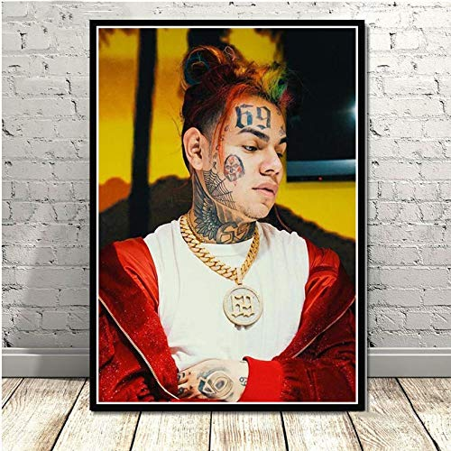 DIY Pintar por números Dibujos animados Comic Rapper Music Singer Star Album Painting Art Picture pintar por numeros paisaje arte digital Adecuado para la decoración de la sal30x45cm(Sin marco)
