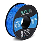 SUNLU ABS Filament 1.75mm for FDM 3D Printer, 1KG(2.2LBS) ABS 3D Filament Accuracy +/- 0.02 mm, Black
