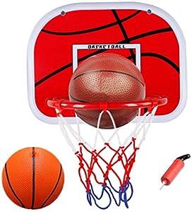 WoBoSen Dentro de Mini Aro de Baloncesto en la Sala de Oficina Mini Baloncesto Junta Niños Deportes de Ocio con Balón y Bomba (Mini Juego de Baloncesto)