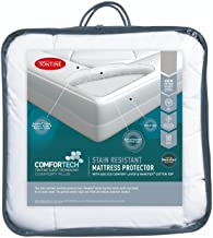 Tontine T6124 Comfortech Stain Resistant Mattress Protector, Double, White