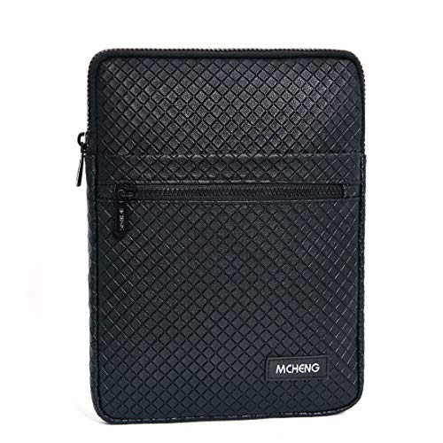 MCHENG 8 Inch Water-Resistant Laptop Sleeve Case Bag Tablet Carrying Pouch With Durable Zipper for 7.9' iPad mini 4/8' SAMSUNG Galaxy Tab S2 / 8' HUAWEI MediaPad M2 Tablet, Black