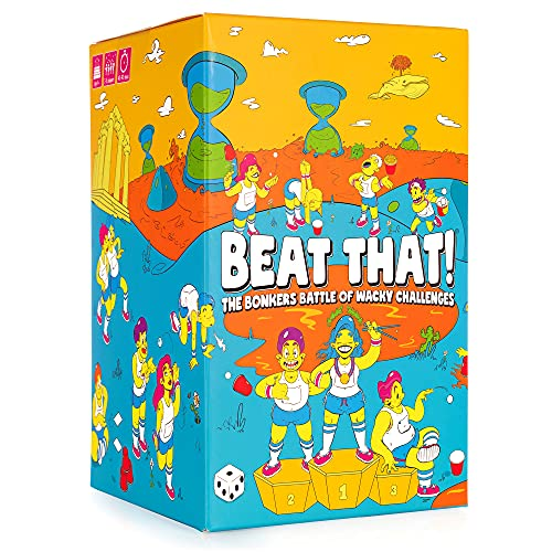 GUTTER GAMES Beat That! - The Bonkers Battle of Wacky Challenges [Family Party Game for Kids & Adults]