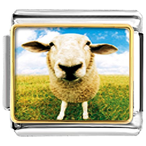 UNIQUEEN Goat Sheep Italian Charms Nomination Charms Fit Classic Links Bracelet